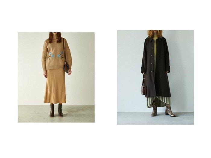 【moussy/マウジー】のSUPPLE LONG スカート&BAL COLLAR ロングコート MOUSSYのおすすめ!人気、トレンド・レディースファッションの通販  おすすめファッション通販アイテム レディースファッション・服の通販 founy(ファニー) ファッション Fashion レディースファッション WOMEN スカート Skirt アウター Coat Outerwear コート Coats 再入荷 Restock/Back in Stock/Re Arrival NEW・新作・新着・新入荷 New Arrivals エレガント シンプル ロング |ID:crp329100000017468
