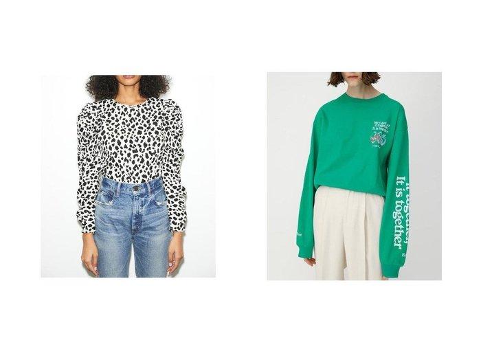 【moussy/マウジー】のSLEEVE LOGO EARTH LS Tシャツ&PUFF SHOULDER ブラウス MOUSSYのおすすめ!人気、トレンド・レディースファッションの通販  おすすめファッション通販アイテム レディースファッション・服の通販 founy(ファニー) ファッション Fashion レディースファッション WOMEN トップス Tops Tshirt シャツ/ブラウス Shirts Blouses ロング / Tシャツ T-Shirts カットソー Cut and Sewn NEW・新作・新着・新入荷 New Arrivals ショルダー 今季 スリーブ フロント プリント ロング |ID:crp329100000017472