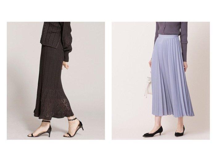 【nano universe/ナノ ユニバース】のアコーディオンプリーツスカート&クロシェ風ニットスカート (セットアップ可) nano universeのおすすめ!人気、トレンド・レディースファッションの通販  おすすめファッション通販アイテム インテリア・キッズ・メンズ・レディースファッション・服の通販 founy(ファニー) https://founy.com/ ファッション Fashion レディースファッション WOMEN セットアップ Setup スカート Skirt スカート Skirt プリーツスカート Pleated Skirts アクリル ウォッシャブル 畦 クロシェ セットアップ 透かし 手編み 長袖 フリル フレア ブライト マーメイド 再入荷 Restock/Back in Stock/Re Arrival NEW・新作・新着・新入荷 New Arrivals |ID:crp329100000017493