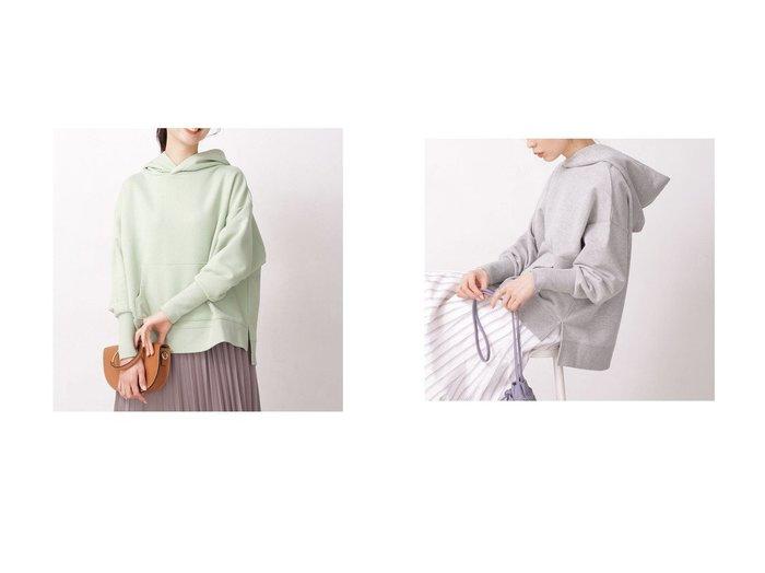 【nano universe/ナノ ユニバース】のWEB限定/裏毛フードトップス 長袖 コーラル7 nano universeのおすすめ!人気、トレンド・レディースファッションの通販  おすすめファッション通販アイテム レディースファッション・服の通販 founy(ファニー) ファッション Fashion レディースファッション WOMEN トップス Tops Tshirt 2021年 2021 2021 春夏 S/S SS Spring/Summer 2021 S/S 春夏 SS Spring/Summer 春 Spring 長袖 |ID:crp329100000017497