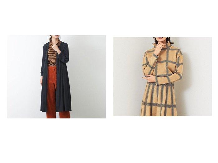 【Rouge vif la cle/ルージュヴィフラクレ】のドビーギャザーワンピース&【BRAHMIN】チェック柄ジャガードニット Rouge vif la cleのおすすめ!人気、トレンド・レディースファッションの通販  おすすめファッション通販アイテム インテリア・キッズ・メンズ・レディースファッション・服の通販 founy(ファニー) https://founy.com/ ファッション Fashion レディースファッション WOMEN ワンピース Dress トップス Tops Tshirt ニット Knit Tops A/W 秋冬 AW Autumn/Winter / FW Fall-Winter ギャザー フィット リボン 2020年 2020 2020-2021 秋冬 A/W AW Autumn/Winter / FW Fall-Winter 2020-2021 アクリル サロペット セットアップ チェック モックネック |ID:crp329100000017627
