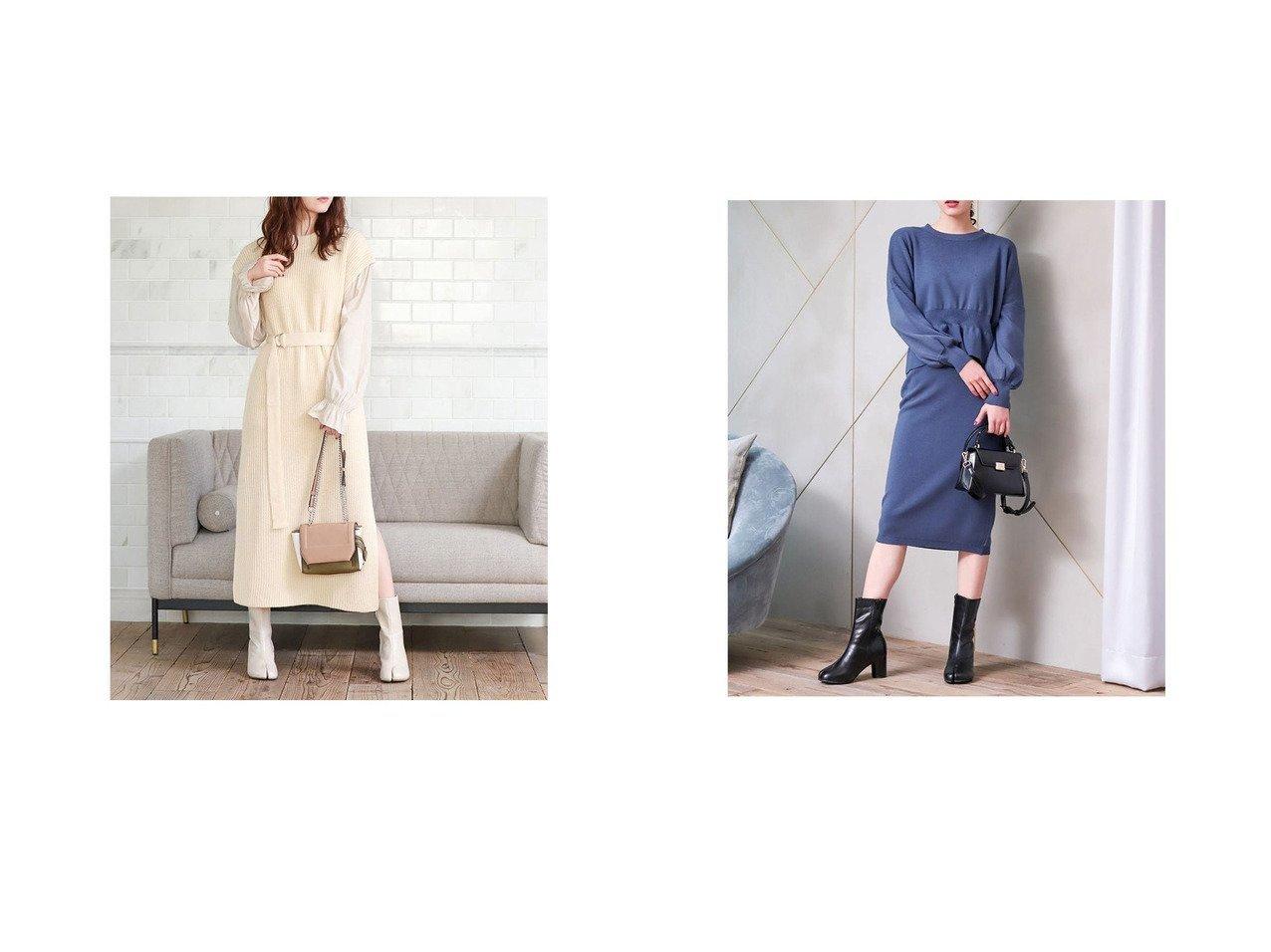 【fifth/フィフス】のウエストマークドッキングニットワンピース&ペプラムニットセットアップ fifthのおすすめ!人気、トレンド・レディースファッションの通販  おすすめで人気の流行・トレンド、ファッションの通販商品 メンズファッション・キッズファッション・インテリア・家具・レディースファッション・服の通販 founy(ファニー) https://founy.com/ ファッション Fashion レディースファッション WOMEN ワンピース Dress ニットワンピース Knit Dresses トップス Tops Tshirt ニット Knit Tops 2021年 2021 2021 春夏 S/S SS Spring/Summer 2021 S/S 春夏 SS Spring/Summer スマート スリット ドッキング 春 Spring |ID:crp329100000017650