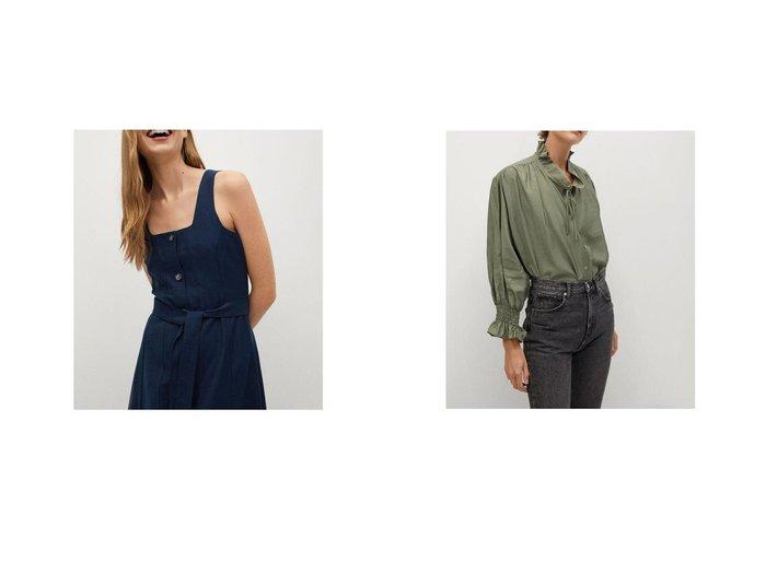 【MANGO/マンゴ】のロングワンピース .-- LOUISA-H&ブラウス .-- RUDOLPH MANGOのおすすめ!人気、トレンド・レディースファッションの通販  おすすめファッション通販アイテム レディースファッション・服の通販 founy(ファニー) ファッション Fashion レディースファッション WOMEN ワンピース Dress トップス Tops Tshirt シャツ/ブラウス Shirts Blouses 2021年 2021 2021 春夏 S/S SS Spring/Summer 2021 S/S 春夏 SS Spring/Summer スクエア フレア フロント ループ ロング 春 Spring エアリー ラウンド 長袖 |ID:crp329100000017703