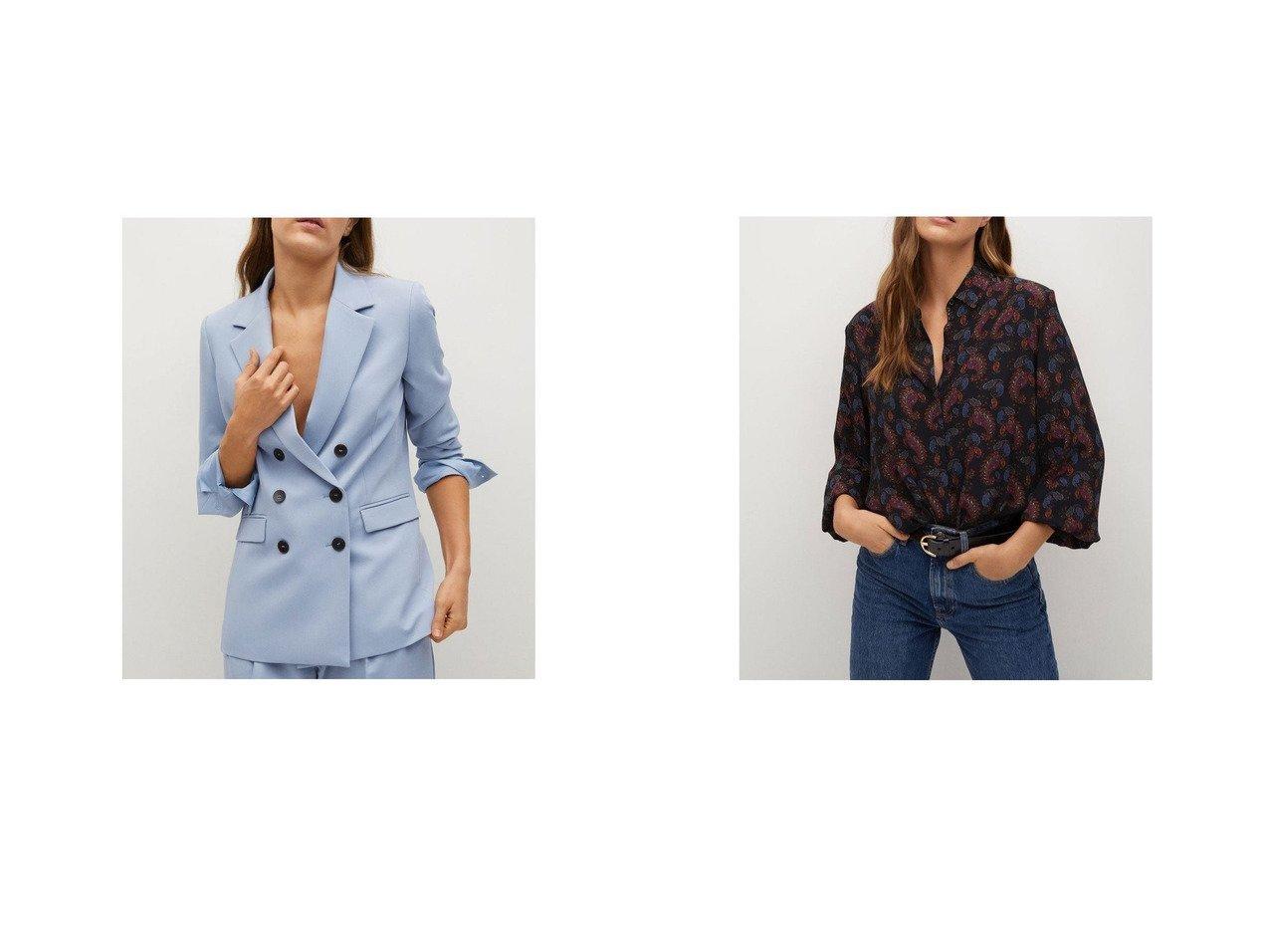 【MANGO/マンゴ】のブレザー .-- GRETA&シャツ .-- CALVIN MANGOのおすすめ!人気、トレンド・レディースファッションの通販  おすすめで人気の流行・トレンド、ファッションの通販商品 メンズファッション・キッズファッション・インテリア・家具・レディースファッション・服の通販 founy(ファニー) https://founy.com/ ファッション Fashion レディースファッション WOMEN トップス Tops Tshirt シャツ/ブラウス Shirts Blouses 2021年 2021 2021 春夏 S/S SS Spring/Summer 2021 S/S 春夏 SS Spring/Summer ストレート ロング 春 Spring エアリー フロント ペイズリー 長袖 |ID:crp329100000017704