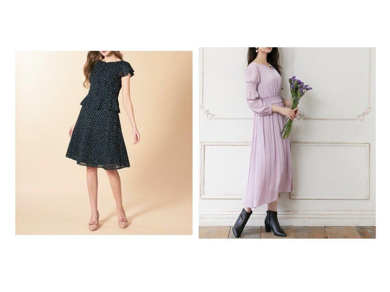 【TOCCA/トッカ】の【TOCCA LAVENDER】Blanc Bijoux Dress ドレス&【洗える!】APRES MIDI スカート TOCCAのおすすめ!人気、トレンド・レディースファッションの通販  おすすめで人気の流行・トレンド、ファッションの通販商品 メンズファッション・キッズファッション・インテリア・家具・レディースファッション・服の通販 founy(ファニー) https://founy.com/ ファッション Fashion レディースファッション WOMEN スカート Skirt ワンピース Dress ドレス Party Dresses 送料無料 Free Shipping 洗える ドレス  ID:crp329100000017763