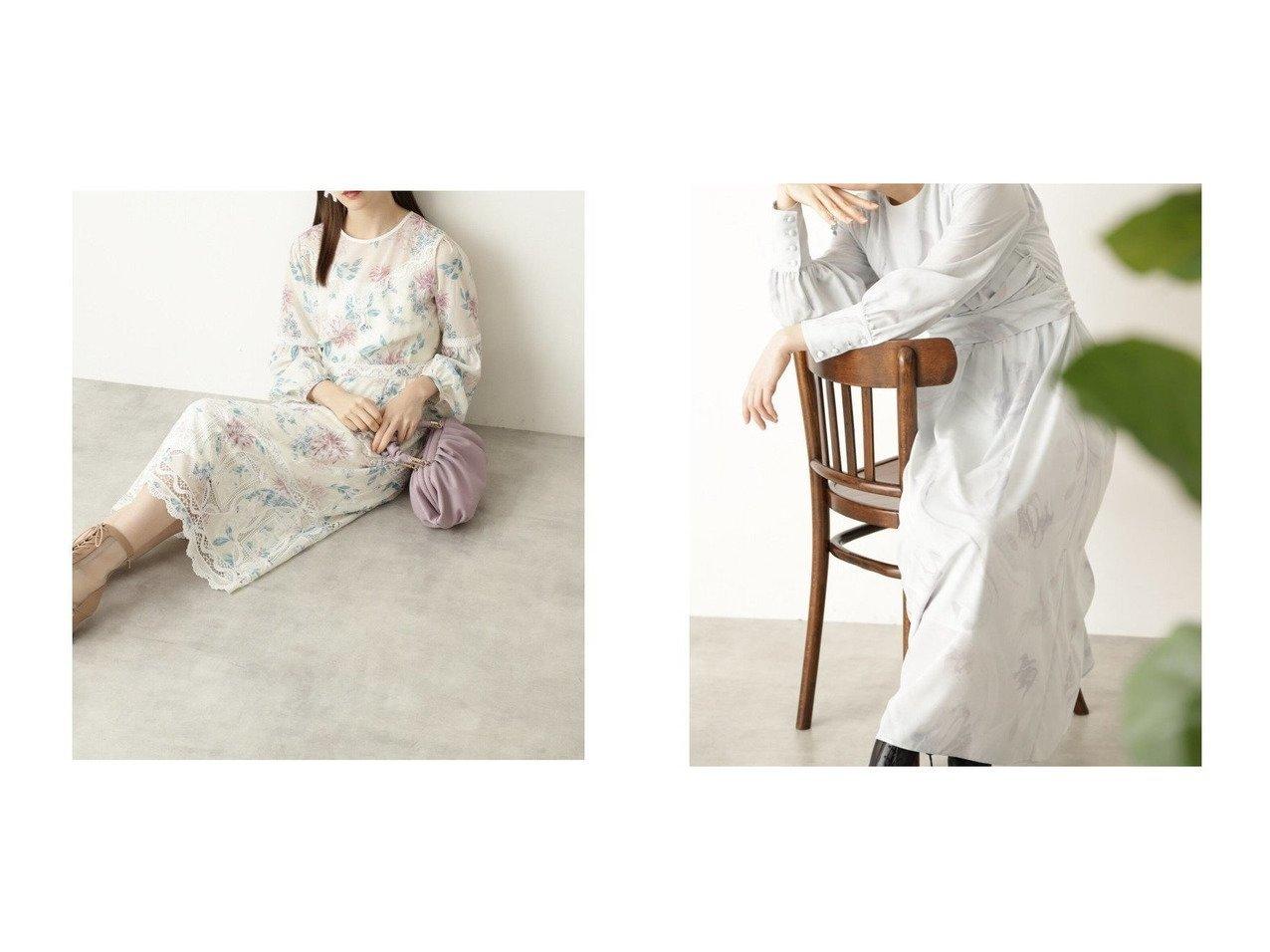 【JILLSTUART/ジルスチュアート】のアンディフラワーブラウス&ベラマーブルワンピース JILLSTUARTのおすすめ!人気、トレンド・レディースファッションの通販  おすすめで人気の流行・トレンド、ファッションの通販商品 メンズファッション・キッズファッション・インテリア・家具・レディースファッション・服の通販 founy(ファニー) https://founy.com/ ファッション Fashion レディースファッション WOMEN ワンピース Dress NEW・新作・新着・新入荷 New Arrivals シフォン フラワー プリント レース 再入荷 Restock/Back in Stock/Re Arrival 春 Spring シャーリング トレンド マーブル |ID:crp329100000017803