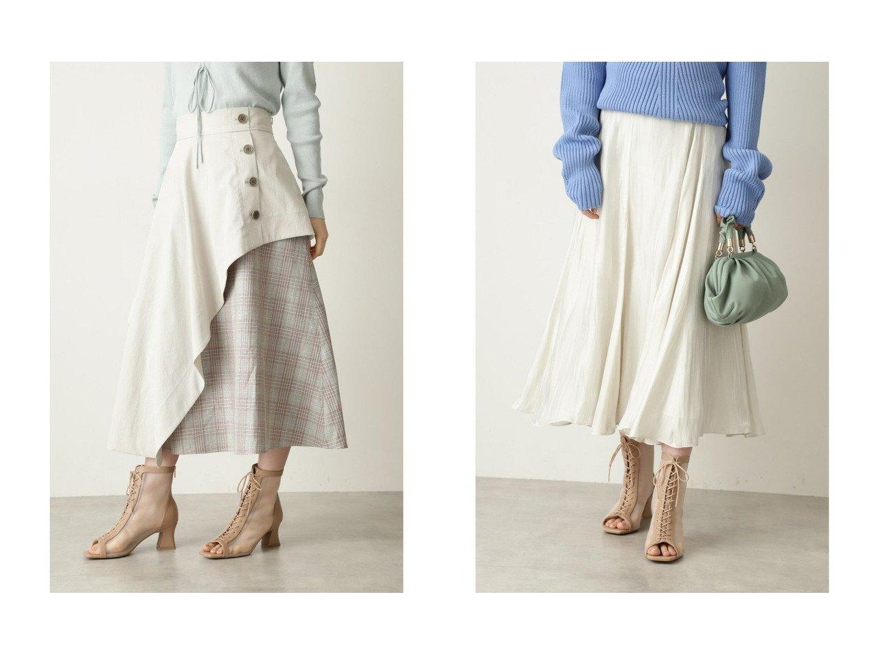【JILLSTUART/ジルスチュアート】のイザベルスカート&ロビンスカート JILLSTUARTのおすすめ!人気、トレンド・レディースファッションの通販  おすすめで人気の流行・トレンド、ファッションの通販商品 メンズファッション・キッズファッション・インテリア・家具・レディースファッション・服の通販 founy(ファニー) https://founy.com/ ファッション Fashion レディースファッション WOMEN スカート Skirt NEW・新作・新着・新入荷 New Arrivals コンビ チェック フレア ミドル 再入荷 Restock/Back in Stock/Re Arrival |ID:crp329100000017807