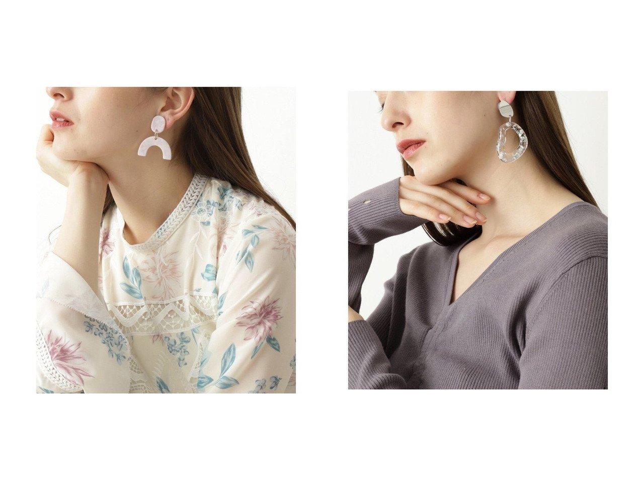 【JILLSTUART/ジルスチュアート】のマーブリンイヤリング&クリアイヤリング JILLSTUARTのおすすめ!人気、トレンド・レディースファッションの通販  おすすめで人気の流行・トレンド、ファッションの通販商品 メンズファッション・キッズファッション・インテリア・家具・レディースファッション・服の通販 founy(ファニー) https://founy.com/ ファッション Fashion レディースファッション WOMEN ジュエリー Jewelry リング Rings イヤリング Earrings NEW・新作・新着・新入荷 New Arrivals アクセサリー イヤリング マーブル 再入荷 Restock/Back in Stock/Re Arrival トレンド フープ モチーフ 春 Spring |ID:crp329100000017813