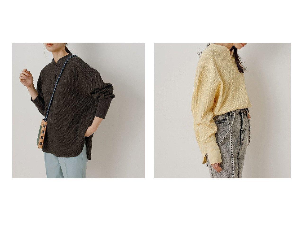 【ADAM ET ROPE'/アダム エ ロペ】のサーマルプルオーバー ROPEのおすすめ!人気、トレンド・レディースファッションの通販  おすすめで人気の流行・トレンド、ファッションの通販商品 メンズファッション・キッズファッション・インテリア・家具・レディースファッション・服の通販 founy(ファニー) https://founy.com/ ファッション Fashion レディースファッション WOMEN トップス Tops Tshirt シャツ/ブラウス Shirts Blouses ロング / Tシャツ T-Shirts プルオーバー Pullover カットソー Cut and Sewn インナー 春 Spring 切替 サーマル シンプル タートル フロント ボトム ポケット 2021年 2021 S/S 春夏 SS Spring/Summer 2021 春夏 S/S SS Spring/Summer 2021 NEW・新作・新着・新入荷 New Arrivals |ID:crp329100000017827
