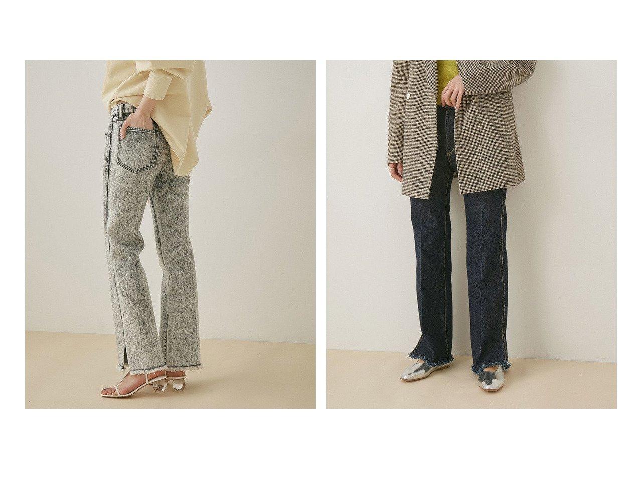 【ADAM ET ROPE'/アダム エ ロペ】の【セットアップ対応】センタープレスフレアデニム ROPEのおすすめ!人気、トレンド・レディースファッションの通販  おすすめで人気の流行・トレンド、ファッションの通販商品 メンズファッション・キッズファッション・インテリア・家具・レディースファッション・服の通販 founy(ファニー) https://founy.com/ ファッション Fashion レディースファッション WOMEN セットアップ Setup パンツ Pants パンツ Pants デニムパンツ Denim Pants 春 Spring 今季 ジャケット スウェット スリット セットアップ デニム フレア ブルゾン ポケット 2021年 2021 S/S 春夏 SS Spring/Summer 2021 春夏 S/S SS Spring/Summer 2021 NEW・新作・新着・新入荷 New Arrivals |ID:crp329100000017830