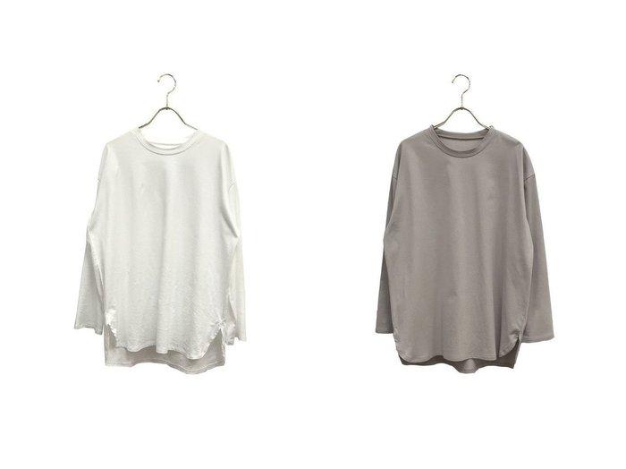 【ROPE' mademoiselle/ロペ マドモアゼル】のオーガニックコットンロングTシャツ ROPEのおすすめ!人気、トレンド・レディースファッションの通販  おすすめファッション通販アイテム インテリア・キッズ・メンズ・レディースファッション・服の通販 founy(ファニー) https://founy.com/ ファッション Fashion レディースファッション WOMEN トップス Tops Tshirt シャツ/ブラウス Shirts Blouses ロング / Tシャツ T-Shirts カットソー Cut and Sewn オーガニック シンプル スウェット ポケット ロング 再入荷 Restock/Back in Stock/Re Arrival |ID:crp329100000017837