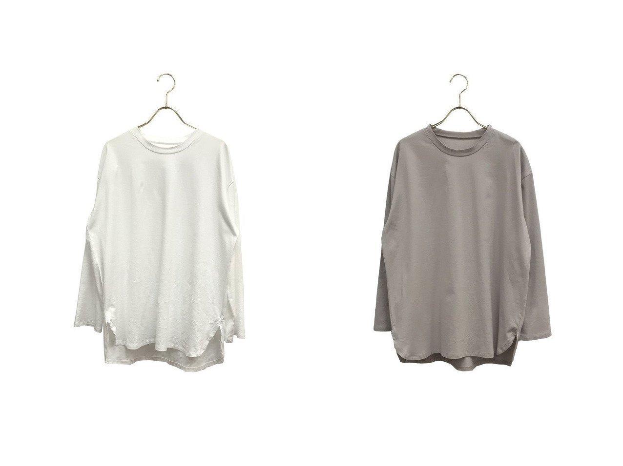【ROPE' mademoiselle/ロペ マドモアゼル】のオーガニックコットンロングTシャツ ROPEのおすすめ!人気、トレンド・レディースファッションの通販  おすすめで人気の流行・トレンド、ファッションの通販商品 メンズファッション・キッズファッション・インテリア・家具・レディースファッション・服の通販 founy(ファニー) https://founy.com/ ファッション Fashion レディースファッション WOMEN トップス Tops Tshirt シャツ/ブラウス Shirts Blouses ロング / Tシャツ T-Shirts カットソー Cut and Sewn オーガニック シンプル スウェット ポケット ロング 再入荷 Restock/Back in Stock/Re Arrival |ID:crp329100000017837