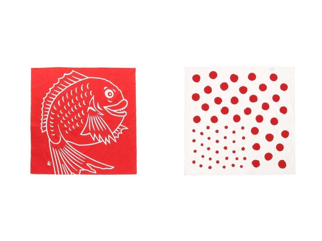 【BEAMS JAPAN / GOODS/ビームス ジャパン】の【香川】大川原染色本舗 小風呂敷 (大判ハンカチ)&【香川】大川原染色本舗 風呂敷 大 鯛 【INTERIOR】BEAMS JAPANのおすすめ!人気、インテリア・家具の通販 おすすめで人気の流行・トレンド、ファッションの通販商品 メンズファッション・キッズファッション・インテリア・家具・レディースファッション・服の通販 founy(ファニー) https://founy.com/ ハンカチ 水玉 |ID:crp329100000017920
