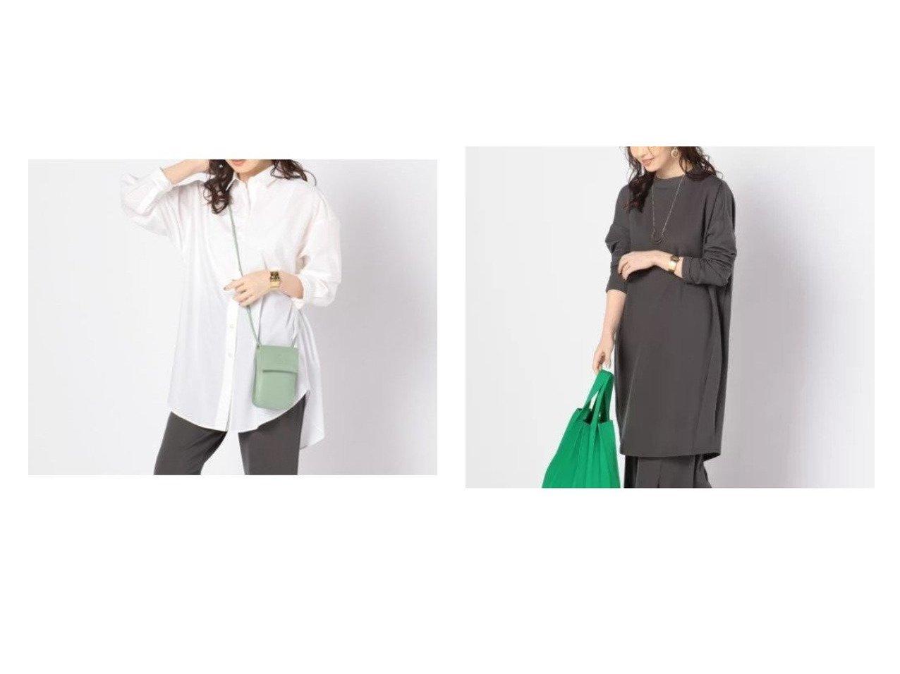 【NOLLEY'S/ノーリーズ】のボリュームロングシャツ&ハイネックバックドレープチュニック NOLLEY'Sのおすすめ!人気、トレンド・レディースファッションの通販 おすすめで人気の流行・トレンド、ファッションの通販商品 メンズファッション・キッズファッション・インテリア・家具・レディースファッション・服の通販 founy(ファニー) https://founy.com/ ファッション Fashion レディースファッション WOMEN トップス Tops Tshirt シャツ/ブラウス Shirts Blouses ロング / Tシャツ T-Shirts カットソー Cut and Sewn シンプル リラックス ロング 今季 長袖 |ID:crp329100000017937