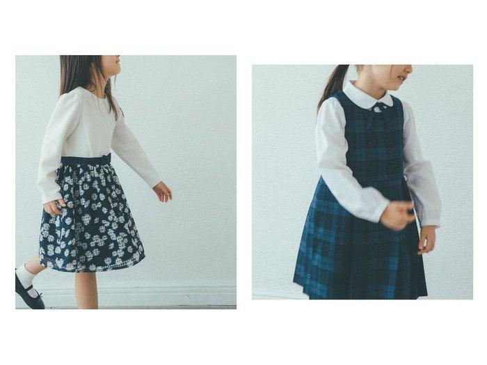 【green label relaxing / UNITED ARROWS / KIDS/グリーンレーベルリラクシング】のTW ブラックウォッチ ジャンパースカート&リップル×フラワーラッセルレースワンピース 【KIDS】UNITED ARROWSのおすすめ!人気、トレンド・子供服、キッズファッションの通販 おすすめファッション通販アイテム レディースファッション・服の通販 founy(ファニー) ファッション Fashion キッズファッション KIDS ワンピース Dress Kids 2021年 2021 2021 春夏 S/S SS Spring/Summer 2021 カットソー ギンガム シンプル ジャケット チェック フォーマル ボレロ モチーフ リボン 春 Spring フロント プリーツ 再入荷 Restock/Back in Stock/Re Arrival  ID:crp329100000017998