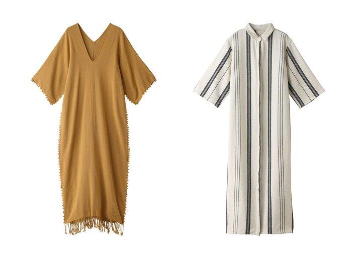 【Chaos/カオス】の【CARAVANA】DRESS&【SEEALL】ロングシャツドレス Chaosのおすすめ!人気、トレンド・レディースファッションの通販 おすすめファッション通販アイテム レディースファッション・服の通販 founy(ファニー) ファッション Fashion レディースファッション WOMEN ワンピース Dress ドレス Party Dresses スリット タッセル フリンジ ロング 再入荷 Restock/Back in Stock/Re Arrival ストライプ ドレス 今季 定番 Standard 羽織 |ID:crp329100000018003