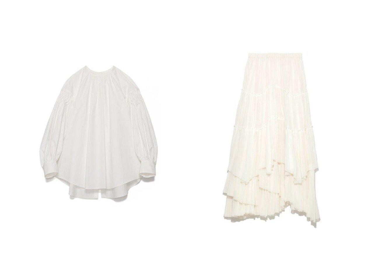 【CASA FLINE/カーサフライン】のコットンティアードスカート&タックスリーブコットンブラウス CASA FLINEのおすすめ!人気、トレンド・レディースファッションの通販 おすすめで人気の流行・トレンド、ファッションの通販商品 メンズファッション・キッズファッション・インテリア・家具・レディースファッション・服の通販 founy(ファニー) https://founy.com/ ファッション Fashion レディースファッション WOMEN トップス Tops Tshirt シャツ/ブラウス Shirts Blouses スカート Skirt ティアードスカート Tiered Skirts ギャザー スリーブ フレア 長袖 エアリー セットアップ センター パープル フェミニン フリル マキシ ラウンド ロング |ID:crp329100000018055