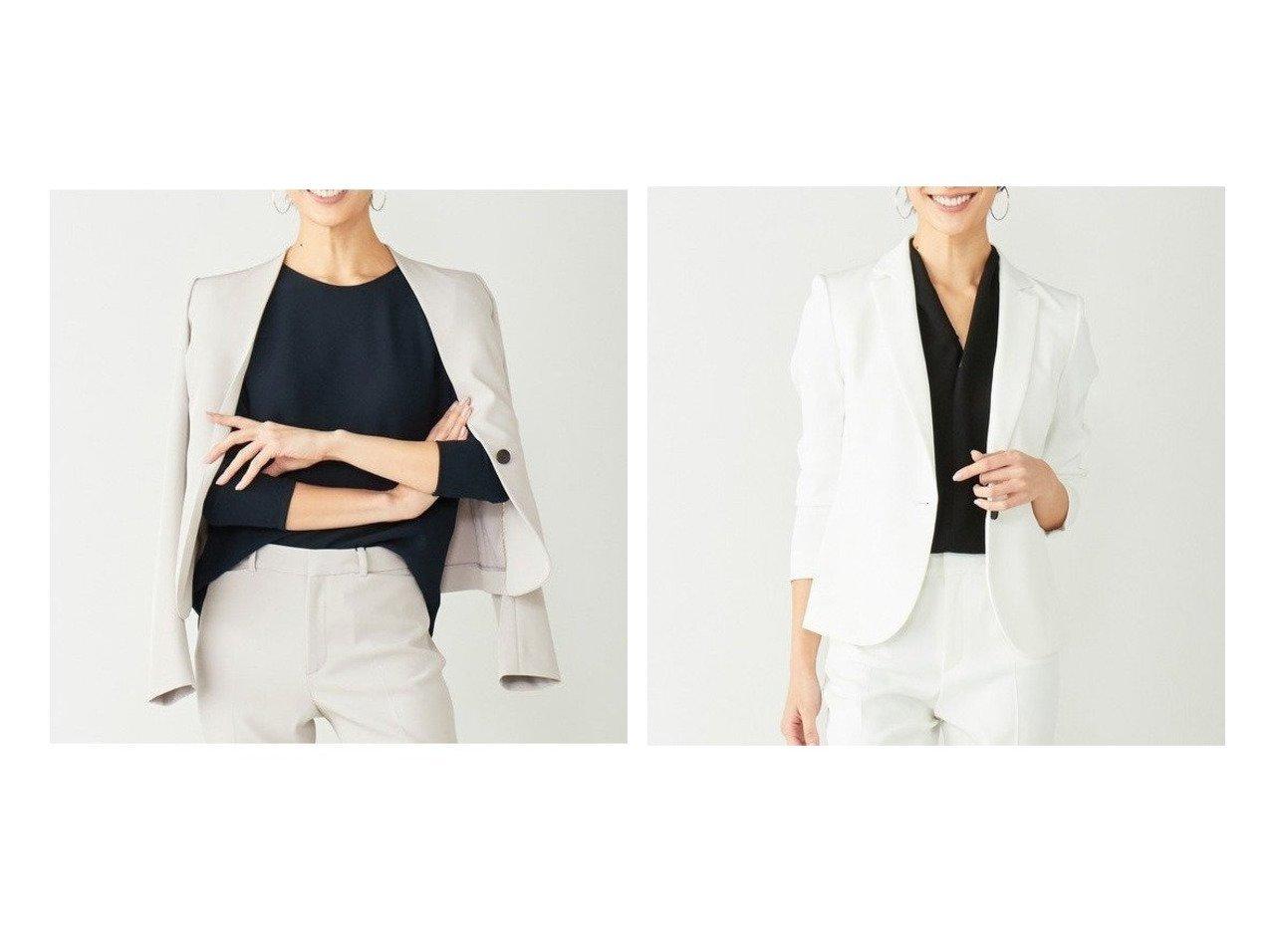 【BEIGE,/ベイジ,】の【限定色あり】 テーラードジャケット&【限定色あり】 ノーカラージャケット 別注・限定・コラボなど、おすすめ!人気トレンド・レディースファッション通販 おすすめで人気の流行・トレンド、ファッションの通販商品 メンズファッション・キッズファッション・インテリア・家具・レディースファッション・服の通販 founy(ファニー) https://founy.com/ ファッション Fashion レディースファッション WOMEN アウター Coat Outerwear ジャケット Jackets ノーカラージャケット No Collar Leather Jackets テーラードジャケット Tailored Jackets 送料無料 Free Shipping ジャケット セットアップ エレガント コンパクト シェイプ スタイリッシュ ストレッチ ツイル 定番 Standard ラウンド  ID:crp329100000018124