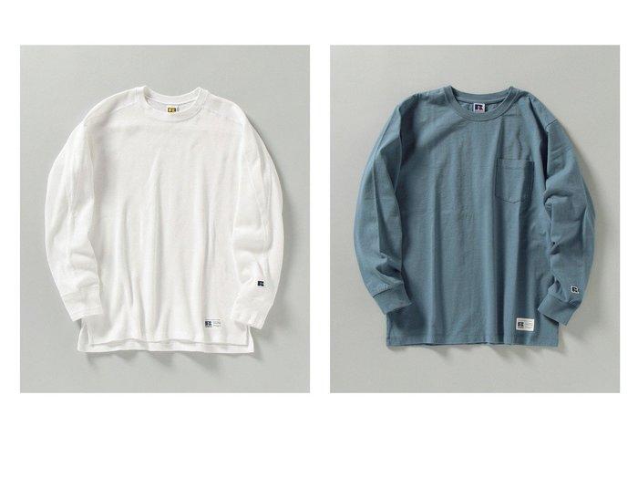 【SHIPS / MEN/シップス】の【SHIPS別注】RUSSELL ATHLETIC ベーシック ポケット Tシャツ (ロンT)&【SHIPS別注】RUSSELL ATHLETIC サーマル クルーネック Tシャツ (ロンT) 【MEN】別注・限定・コラボなど、おすすめ!人気トレンド・メンズファッション通販 おすすめファッション通販アイテム レディースファッション・服の通販 founy(ファニー) ファッション Fashion メンズファッション MEN トップス Tops Tshirt Men シャツ Shirts ロング / Tシャツ T-Shirts ヴィンテージ 吸水 サーマル スポーツ パターン フィット 別注 再入荷 Restock/Back in Stock/Re Arrival 春 Spring スタンダード 定番 Standard ベーシック ポケット ロング S/S 春夏 SS Spring/Summer |ID:crp329100000018192