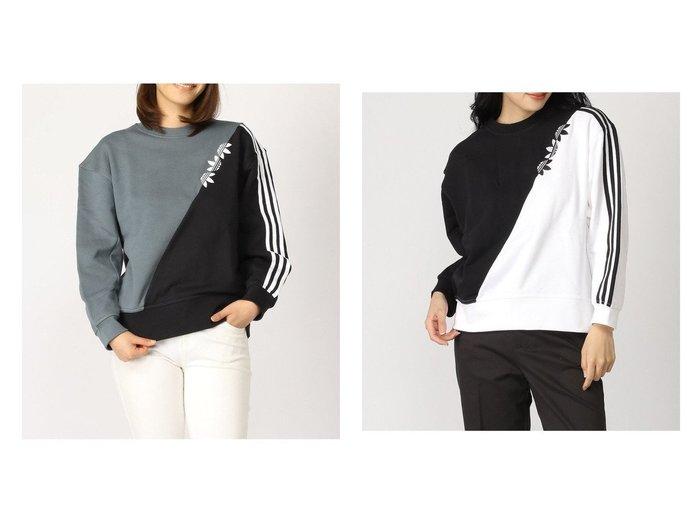 【adidas Originals/アディダス オリジナルス】のSWEATSHIRT adidasのおすすめ!人気、トレンド・レディースファッションの通販 おすすめファッション通販アイテム レディースファッション・服の通販 founy(ファニー) ファッション Fashion レディースファッション WOMEN トップス Tops Tshirt シャツ/ブラウス Shirts Blouses パーカ Sweats ロング / Tシャツ T-Shirts スウェット Sweat カットソー Cut and Sewn アシンメトリー カットソー スウェット ストライプ バランス フレンチ |ID:crp329100000018233