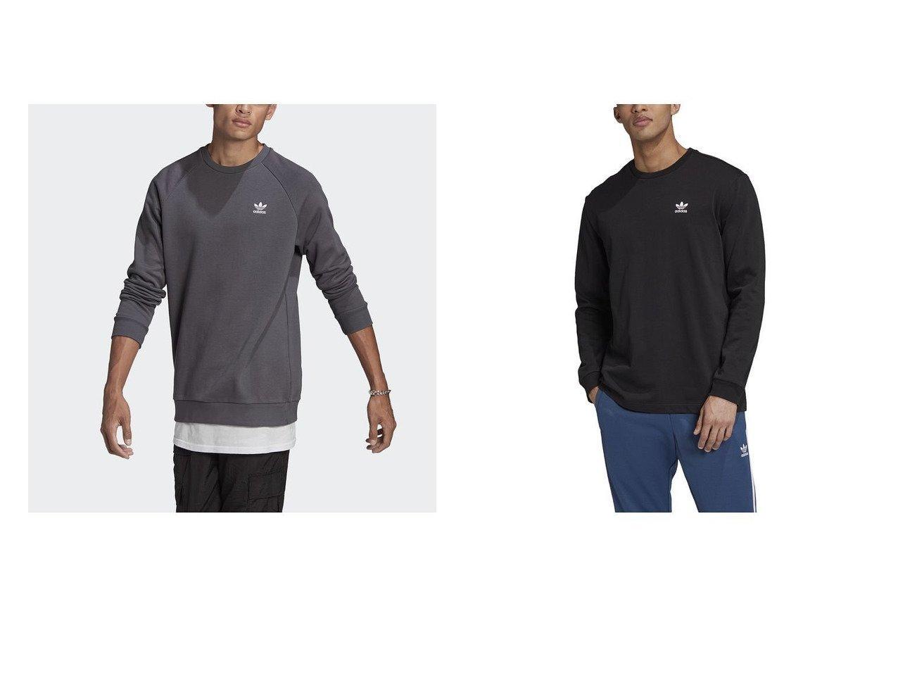 【adidas Originals / KIDS/アディダス オリジナルス】のバック&フロント プリント トレフォイル 長袖Tシャツ&【adidas Originals/アディダス オリジナルス】のESSENTIAL CREW adidasのおすすめ!人気、トレンド・レディースファッションの通販 おすすめで人気の流行・トレンド、ファッションの通販商品 メンズファッション・キッズファッション・インテリア・家具・レディースファッション・服の通販 founy(ファニー) https://founy.com/ ファッション Fashion レディースファッション WOMEN トップス Tops Tshirt パーカ Sweats スウェット Sweat キッズファッション KIDS トップス Tops Tees Kids シンプル スリーブ フィット フレンチ モダン レギュラー ロング ジャージー フロント プリント 長袖 |ID:crp329100000018235