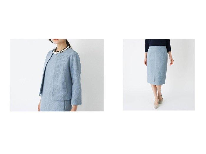 【modify/モディファイ】の膨れジャカードノーカラージャケット&膨れジャカードタイトスカート modifyのおすすめ!人気、トレンド・レディースファッションの通販 おすすめファッション通販アイテム レディースファッション・服の通販 founy(ファニー) ファッション Fashion レディースファッション WOMEN アウター Coat Outerwear ジャケット Jackets ノーカラージャケット No Collar Leather Jackets スカート Skirt 2021年 2021 2021 春夏 S/S SS Spring/Summer 2021 S/S 春夏 SS Spring/Summer アクリル ジャカード ジャケット セットアップ フロント 春 Spring  ID:crp329100000018239