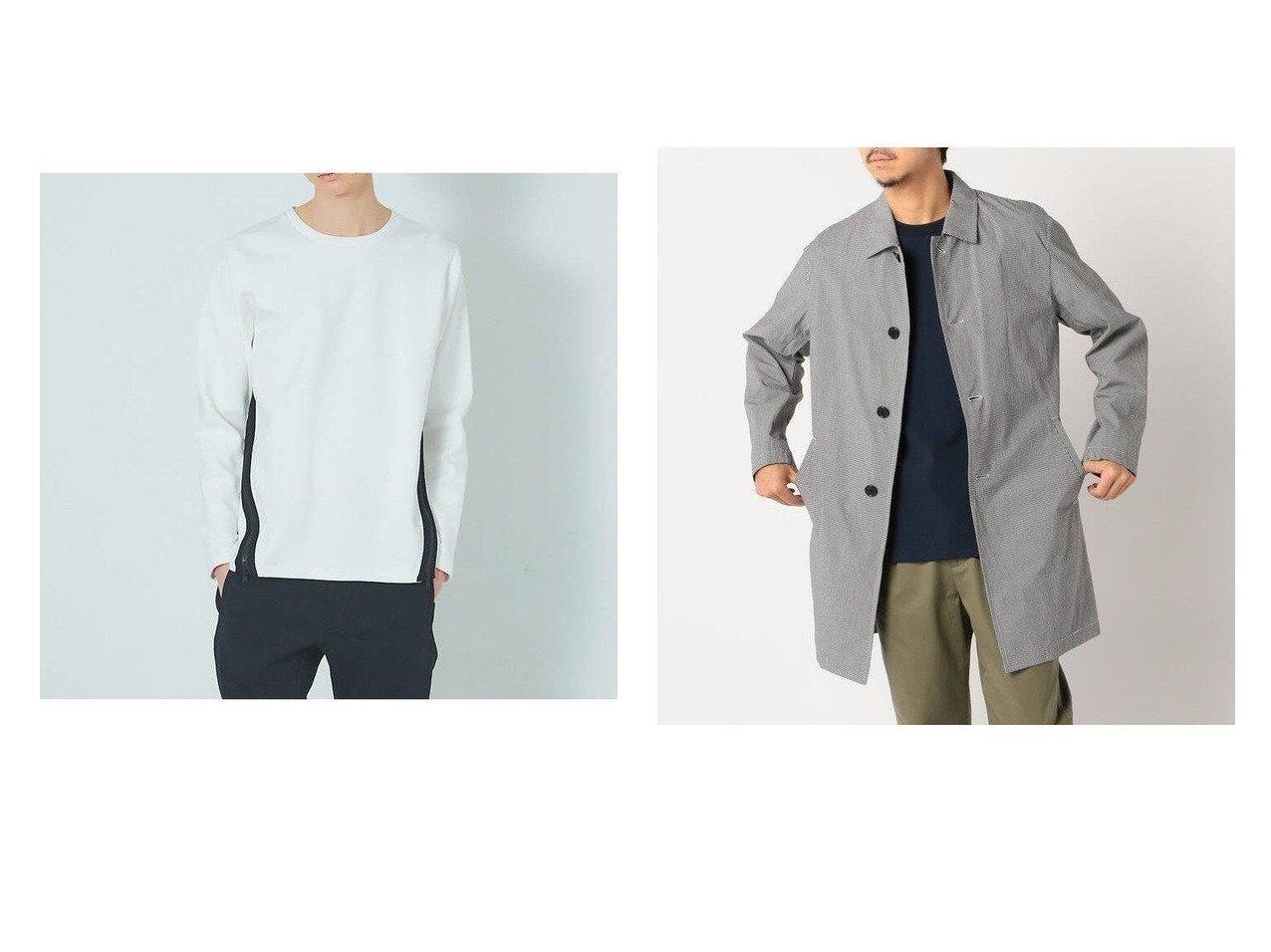 【GLOSTER / MEN/グロスター】のタイプライター ステンカラーコート&【5351POUR LES HOMMES / MEN/5351プール オム】の裾ジップ プルオーバー ロングTシャツ 【MEN】おすすめ!人気トレンド・男性、メンズファッションの通販 おすすめで人気の流行・トレンド、ファッションの通販商品 メンズファッション・キッズファッション・インテリア・家具・レディースファッション・服の通販 founy(ファニー) https://founy.com/ ファッション Fashion メンズファッション MEN トップス Tops Tshirt Men シャツ Shirts ロング / Tシャツ T-Shirts アウター Coats Outerwear Men カットソー ジップ スウェット ロング シンプル ジャケット タイプライター 再入荷 Restock/Back in Stock/Re Arrival |ID:crp329100000018291