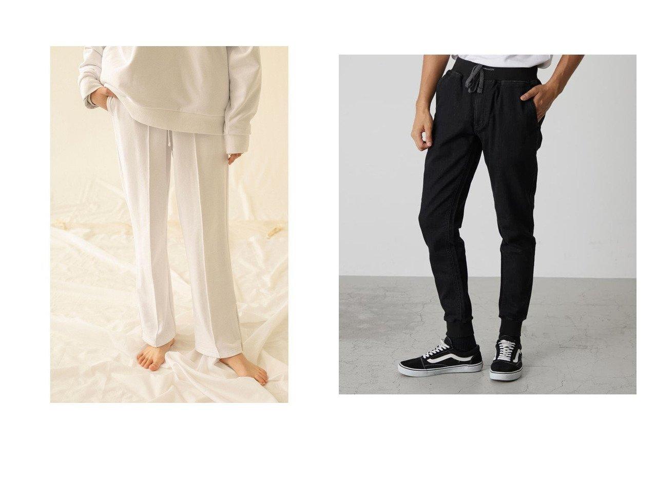 【AZUL by moussy / MEN/アズールバイマウジー】のDOBBY DENIM SLIM JOGGER&【MONKEY TIME / MEN/モンキータイム】のスウェットパンツ 【MEN】おすすめ!人気トレンド・男性、メンズファッションの通販 おすすめで人気の流行・トレンド、ファッションの通販商品 メンズファッション・キッズファッション・インテリア・家具・レディースファッション・服の通販 founy(ファニー) https://founy.com/ ファッション Fashion メンズファッション MEN ボトムス Bottoms Men デニムパンツ Denim Pants シンプル 2021年 2021 2021 春夏 S/S SS Spring/Summer 2021 S/S 春夏 SS Spring/Summer ストレッチ デニム フロント ベーシック ポケット |ID:crp329100000018296