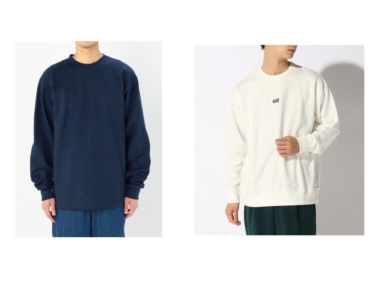 【HARE / MEN/ハレ】のHARELOGO-LS&【Bshop / MEN/ビショップ】の【CAMBER】ヘビーウェイト 長袖Tシャツ MEN 【MEN】おすすめ!人気トレンド・男性、メンズファッションの通販 おすすめで人気の流行・トレンド、ファッションの通販商品 メンズファッション・キッズファッション・インテリア・家具・レディースファッション・服の通販 founy(ファニー) https://founy.com/ ファッション Fashion メンズファッション MEN トップス Tops Tshirt Men シャツ Shirts カットソー 長袖 スウェット フロント |ID:crp329100000018302