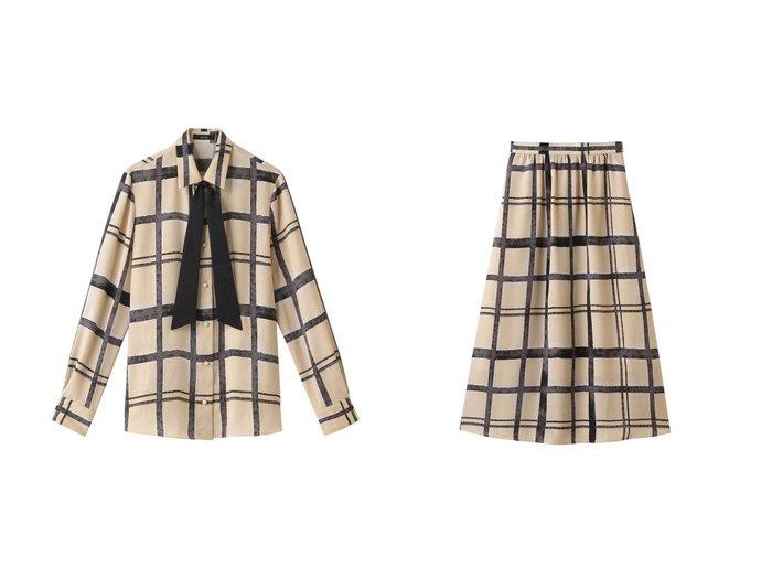【allureville/アルアバイル】のシェーディングチェックシャツ&シェーディングチェックスカート allurevilleのおすすめ!人気、トレンド・レディースファッションの通販 おすすめファッション通販アイテム レディースファッション・服の通販 founy(ファニー) ファッション Fashion レディースファッション WOMEN トップス Tops Tshirt シャツ/ブラウス Shirts Blouses スカート Skirt 2021年 2021 2021 春夏 S/S SS Spring/Summer 2021 S/S 春夏 SS Spring/Summer エレガント シンプル スリーブ セットアップ ロング 春 Spring |ID:crp329100000018320