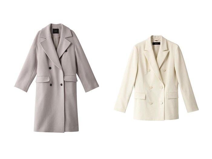 【allureville/アルアバイル】のオックスダブルブレストジャケット&二重織ダブルブレストコート allurevilleのおすすめ!人気、トレンド・レディースファッションの通販 おすすめファッション通販アイテム レディースファッション・服の通販 founy(ファニー) ファッション Fashion レディースファッション WOMEN アウター Coat Outerwear コート Coats ジャケット Jackets シンプル ロング 2021年 2021 2021 春夏 S/S SS Spring/Summer 2021 S/S 春夏 SS Spring/Summer クール ジャケット スマート フェミニン マニッシュ 春 Spring |ID:crp329100000018321