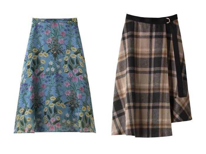 【allureville/アルアバイル】の【Loulou Willoughby】シアーボタニカルフレアースカート&BIGタータンチェックラップスカート allurevilleのおすすめ!人気、トレンド・レディースファッションの通販 おすすめファッション通販アイテム レディースファッション・服の通販 founy(ファニー) ファッション Fashion レディースファッション WOMEN スカート Skirt 2021年 2021 2021 春夏 S/S SS Spring/Summer 2021 S/S 春夏 SS Spring/Summer シンプル フレア 春 Spring クラシカル ビッグ ラップ |ID:crp329100000018323
