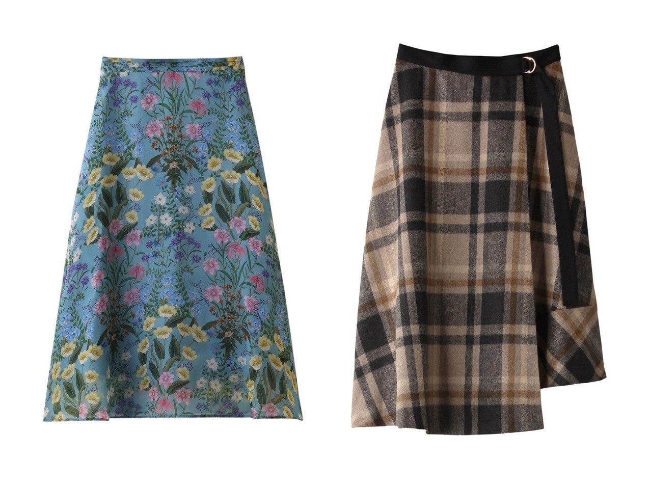 【allureville/アルアバイル】の【Loulou Willoughby】シアーボタニカルフレアースカート&BIGタータンチェックラップスカート allurevilleのおすすめ!人気、トレンド・レディースファッションの通販 おすすめで人気の流行・トレンド、ファッションの通販商品 メンズファッション・キッズファッション・インテリア・家具・レディースファッション・服の通販 founy(ファニー) https://founy.com/ ファッション Fashion レディースファッション WOMEN スカート Skirt 2021年 2021 2021 春夏 S/S SS Spring/Summer 2021 S/S 春夏 SS Spring/Summer シンプル フレア 春 Spring クラシカル ビッグ ラップ |ID:crp329100000018323