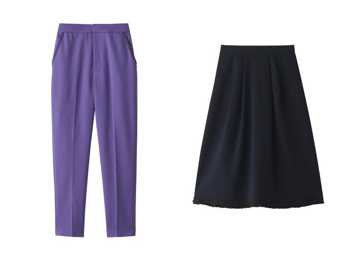 【LANVIN en Bleu/ランバン オン ブルー】のフリルヘムスカート&ベーシックテーパードパンツ LANVIN en Bleuのおすすめ!人気、トレンド・レディースファッションの通販 おすすめファッション通販アイテム レディースファッション・服の通販 founy(ファニー) ファッション Fashion レディースファッション WOMEN パンツ Pants スカート Skirt 2021年 2021 2021 春夏 S/S SS Spring/Summer 2021 S/S 春夏 SS Spring/Summer シンプル スマート フィット ベーシック 春 Spring |ID:crp329100000018334