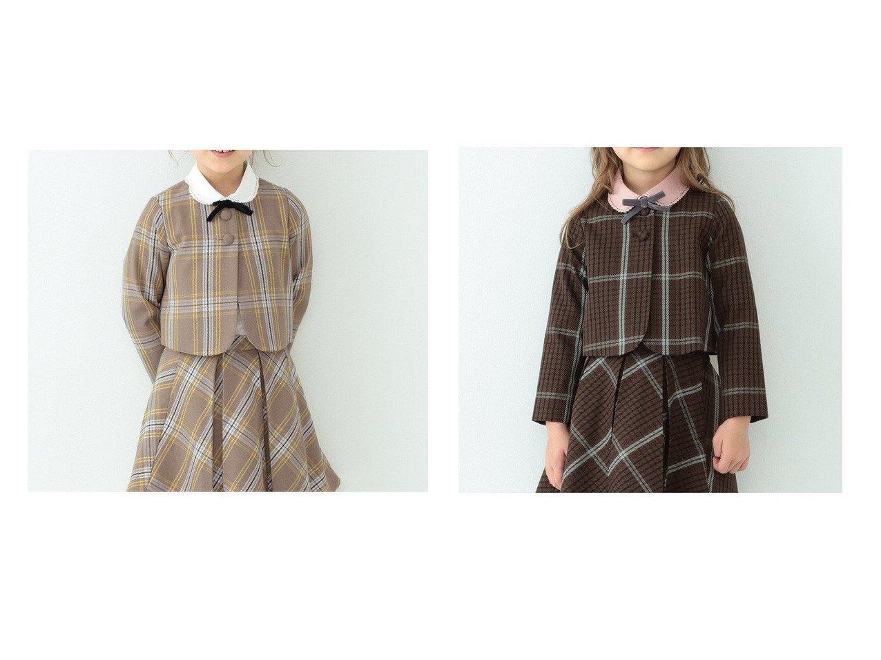 【B:MING by BEAMS / KIDS/ビーミング バイ ビームス】のフォーマル チェック ボレロ 21FO(100~130cm) KIDS】子供服のおすすめ!人気トレンド・キッズファッションの通販 おすすめで人気の流行・トレンド、ファッションの通販商品 メンズファッション・キッズファッション・インテリア・家具・レディースファッション・服の通販 founy(ファニー) https://founy.com/ ファッション Fashion キッズファッション KIDS ジャケット セットアップ チェック 人気 パターン フォーマル ボレロ リアル |ID:crp329100000018367