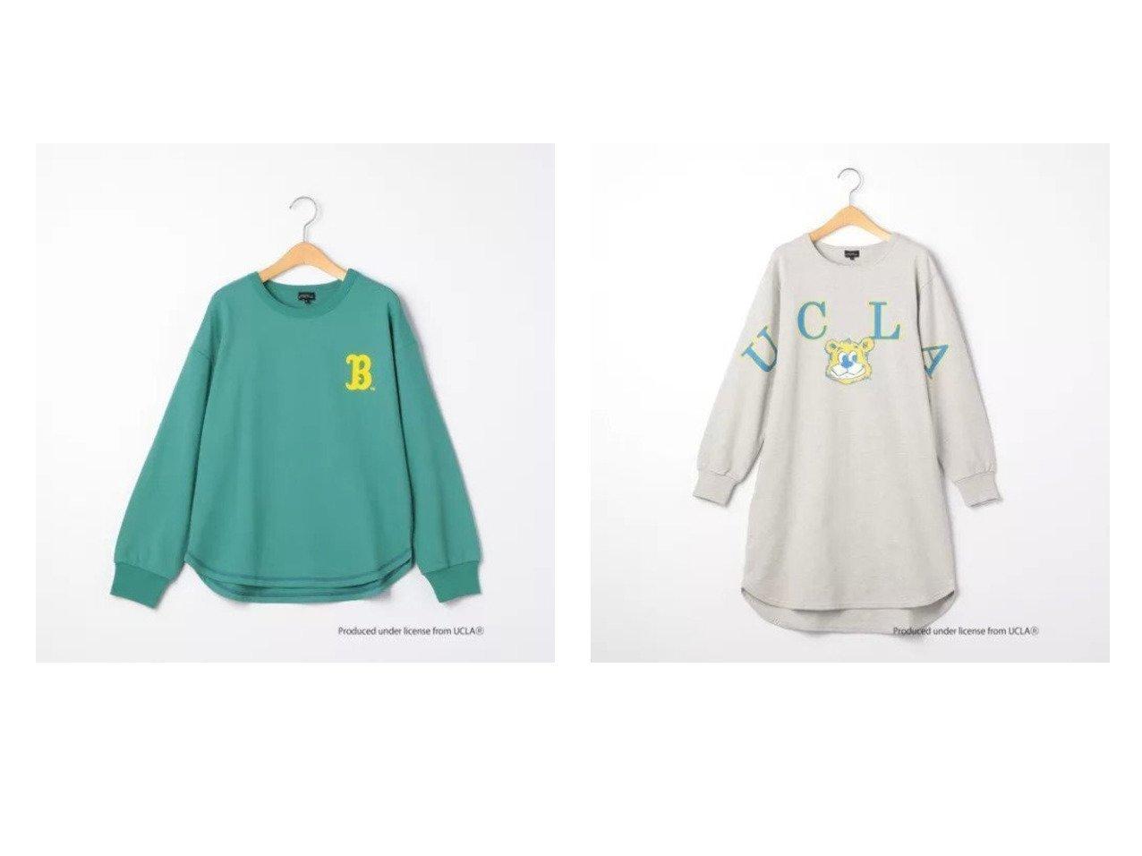 【green label relaxing / UNITED ARROWS / KIDS/グリーンレーベルリラクシング】の〔別注〕【ジュニア】UCLA プリントプルオーバー&〔別注〕【ジュニア】UCLA プリントワンピース KIDS】子供服のおすすめ!人気トレンド・キッズファッションの通販 おすすめで人気の流行・トレンド、ファッションの通販商品 メンズファッション・キッズファッション・インテリア・家具・レディースファッション・服の通販 founy(ファニー) https://founy.com/ ファッション Fashion キッズファッション KIDS トップス Tops Tees Kids ワンピース Dress Kids トレンド フロント プリント ラウンド ワンポイント 別注 |ID:crp329100000018378