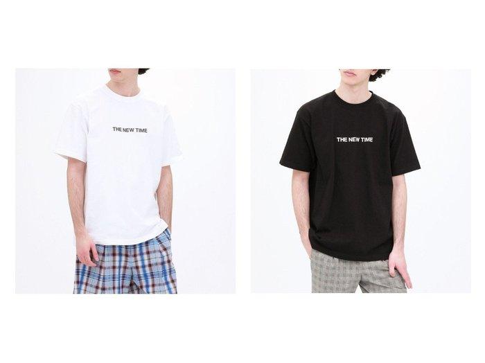 【LOVELESS / MEN/ラブレス】のTHE NEW TIME ロゴT 【MEN】おすすめ!人気トレンド・男性、メンズファッションの通販 おすすめ人気トレンドファッション通販アイテム 人気、トレンドファッション・服の通販 founy(ファニー)  ファッション Fashion メンズファッション MEN トップス Tops Tshirt Men シャツ Shirts カットソー プリント モノトーン 半袖 |ID:crp329100000018446
