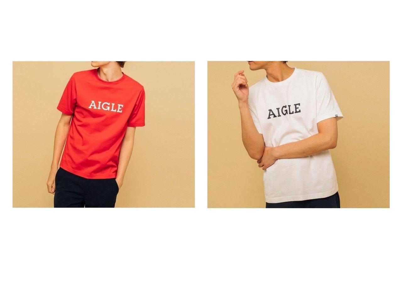 【AIGLE / MEN/エーグル】の吸水速乾エーグルグラフィックロゴTシャツ 【MEN】おすすめ!人気トレンド・男性、メンズファッションの通販 おすすめで人気の流行・トレンド、ファッションの通販商品 メンズファッション・キッズファッション・インテリア・家具・レディースファッション・服の通販 founy(ファニー) https://founy.com/ ファッション Fashion メンズファッション MEN トップス Tops Tshirt Men シャツ Shirts カットソー シンプル センター フィット フレンチ フロント プリント レギュラー 吸水 抗菌 |ID:crp329100000018453