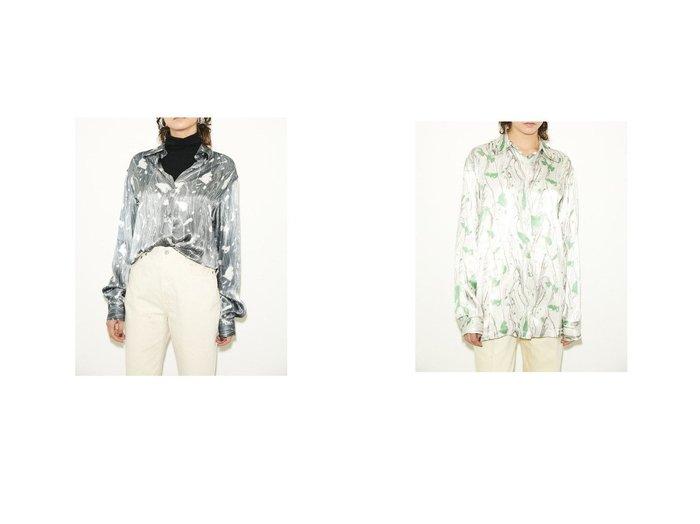 【SLY/スライ】のMARBLE PAINT TEXTURE ブラウスGRY7&MARBLE PAINT TEXTURE ブラウスWHT7 SLYのおすすめ!人気、トレンド・レディースファッションの通販 おすすめファッション通販アイテム レディースファッション・服の通販 founy(ファニー) ファッション Fashion レディースファッション WOMEN トップス Tops Tshirt シャツ/ブラウス Shirts Blouses 2021年 2021 2021 春夏 S/S SS Spring/Summer 2021 S/S 春夏 SS Spring/Summer デニム プリント ボトム マニッシュ リラックス 春 Spring |ID:crp329100000018464