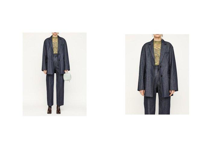 【SLY/スライ】のDENIM TAILOR ジャケット&DENIM CP SLIM STRAIGHT SLYのおすすめ!人気、トレンド・レディースファッションの通販 おすすめファッション通販アイテム レディースファッション・服の通販 founy(ファニー) ファッション Fashion レディースファッション WOMEN アウター Coat Outerwear ジャケット Jackets 2021年 2021 2021 春夏 S/S SS Spring/Summer 2021 S/S 春夏 SS Spring/Summer ストレート セットアップ センター デニム 春 Spring |ID:crp329100000018467