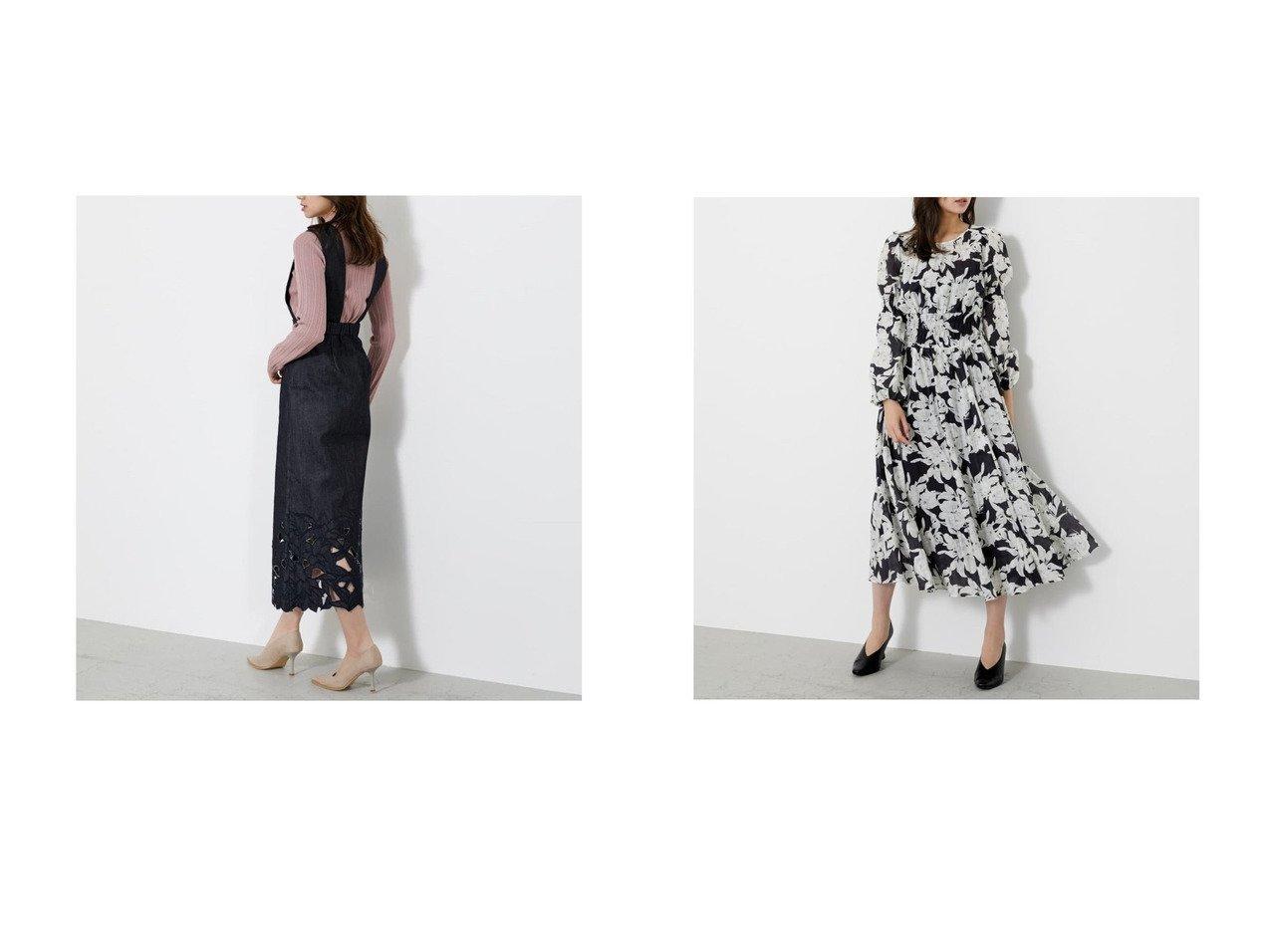 【rienda/リエンダ】のカットワークレースW AラインSK&アートフラワーシャーリングフレアOP SLYのおすすめ!人気、トレンド・レディースファッションの通販 おすすめで人気の流行・トレンド、ファッションの通販商品 メンズファッション・キッズファッション・インテリア・家具・レディースファッション・服の通販 founy(ファニー) https://founy.com/ ファッション Fashion レディースファッション WOMEN スカート Skirt ワンピース Dress 2021年 2021 2021 春夏 S/S SS Spring/Summer 2021 S/S 春夏 SS Spring/Summer サスペンダー 春 Spring  ID:crp329100000018469