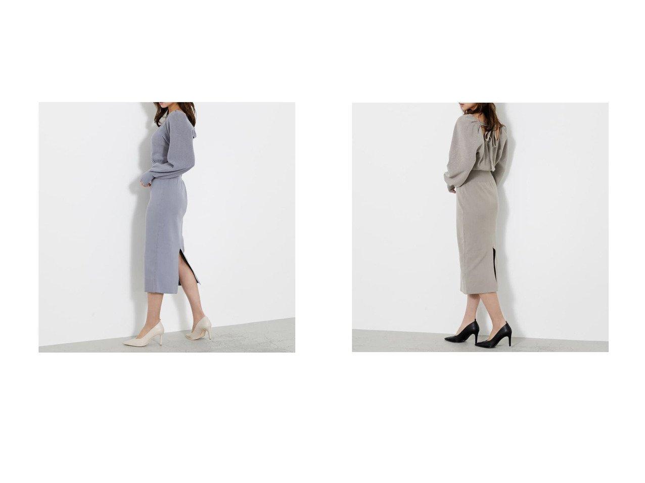 【rienda/リエンダ】のバックリボンスクエアネックKnit OP PNK&バックリボンスクエアネックKnit OP SLYのおすすめ!人気、トレンド・レディースファッションの通販 おすすめで人気の流行・トレンド、ファッションの通販商品 メンズファッション・キッズファッション・インテリア・家具・レディースファッション・服の通販 founy(ファニー) https://founy.com/ ファッション Fashion レディースファッション WOMEN トップス Tops Tshirt ニット Knit Tops 2021年 2021 2021 春夏 S/S SS Spring/Summer 2021 S/S 春夏 SS Spring/Summer ルーズ 春 Spring  ID:crp329100000018470