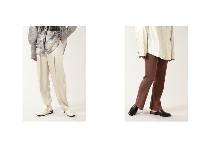 【ROSE BUD/ローズバッド】のレザーライクサテンパンツ&ラメニットパンツ ROSE BUDのおすすめ!人気、トレンド・レディースファッションの通販 おすすめファッション通販アイテム レディースファッション・服の通販 founy(ファニー)  ファッション Fashion レディースファッション WOMEN パンツ Pants 春 Spring サテン シューズ スタンダード スニーカー テーパード ドレープ マニッシュ 2021年 2021 S/S 春夏 SS Spring/Summer 2021 春夏 S/S SS Spring/Summer 2021 |ID:crp329100000018481