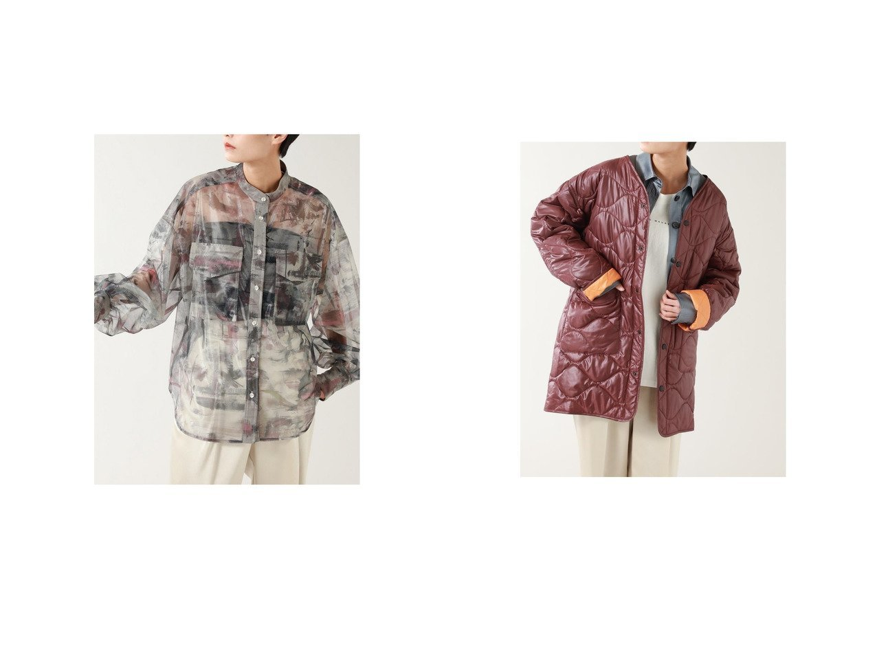 【ROSE BUD/ローズバッド】のアートプリントシアーシャツ&リバーシブルキルティングコート ROSE BUDのおすすめ!人気、トレンド・レディースファッションの通販 おすすめで人気の流行・トレンド、ファッションの通販商品 メンズファッション・キッズファッション・インテリア・家具・レディースファッション・服の通販 founy(ファニー) https://founy.com/ ファッション Fashion レディースファッション WOMEN トップス Tops Tshirt シャツ/ブラウス Shirts Blouses アウター Coat Outerwear コート Coats 春 Spring ガーリー 軽量 シアー スタンダード スタンド スリーブ ダブル 人気 プリント ポケット 2021年 2021 S/S 春夏 SS Spring/Summer 2021 春夏 S/S SS Spring/Summer 2021 |ID:crp329100000018482