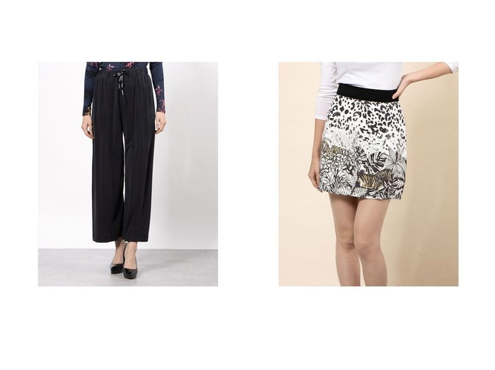 【Desigual/デシグアル】のスカートミニ TOUCH-&長パンツ FLUID PANT Desigualのおすすめ!人気、トレンド・レディースファッションの通販 おすすめファッション通販アイテム レディースファッション・服の通販 founy(ファニー)  ファッション Fashion レディースファッション WOMEN パンツ Pants スカート Skirt 2021年 2021 2021 春夏 S/S SS Spring/Summer 2021 S/S 春夏 SS Spring/Summer リラックス ロング 春 Spring |ID:crp329100000018490