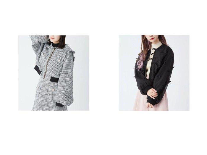 【Ank Rouge/アンクルージュ】のツイードセーラーブルゾン&ランダムリボンオーガンジーブルゾン Ank Rougeのおすすめ!人気、トレンド・レディースファッションの通販 おすすめ人気トレンドファッション通販アイテム 人気、トレンドファッション・服の通販 founy(ファニー)  ファッション Fashion レディースファッション WOMEN アウター Coat Outerwear ブルゾン Blouson Jackets 2021年 2021 2021 春夏 S/S SS Spring/Summer 2021 S/S 春夏 SS Spring/Summer コンパクト スリーブ バランス パール フリル ブルゾン 春 Spring |ID:crp329100000018496