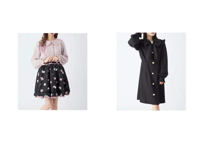 【Ank Rouge/アンクルージュ】のRoseBunnyスカート&オーガンジーリボンワンピース Ank Rougeのおすすめ!人気、トレンド・レディースファッションの通販 おすすめ人気トレンドファッション通販アイテム 人気、トレンドファッション・服の通販 founy(ファニー)  ファッション Fashion レディースファッション WOMEN スカート Skirt ワンピース Dress 2021年 2021 2021 春夏 S/S SS Spring/Summer 2021 S/S 春夏 SS Spring/Summer ギャザー フリル 春 Spring |ID:crp329100000018500