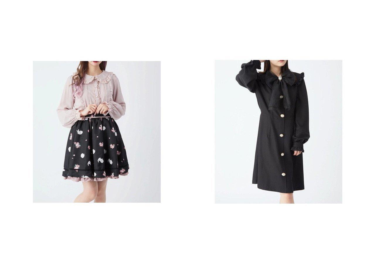 【Ank Rouge/アンクルージュ】のRoseBunnyスカート&オーガンジーリボンワンピース Ank Rougeのおすすめ!人気、トレンド・レディースファッションの通販 おすすめで人気の流行・トレンド、ファッションの通販商品 メンズファッション・キッズファッション・インテリア・家具・レディースファッション・服の通販 founy(ファニー) https://founy.com/ ファッション Fashion レディースファッション WOMEN スカート Skirt ワンピース Dress 2021年 2021 2021 春夏 S/S SS Spring/Summer 2021 S/S 春夏 SS Spring/Summer ギャザー フリル 春 Spring |ID:crp329100000018500