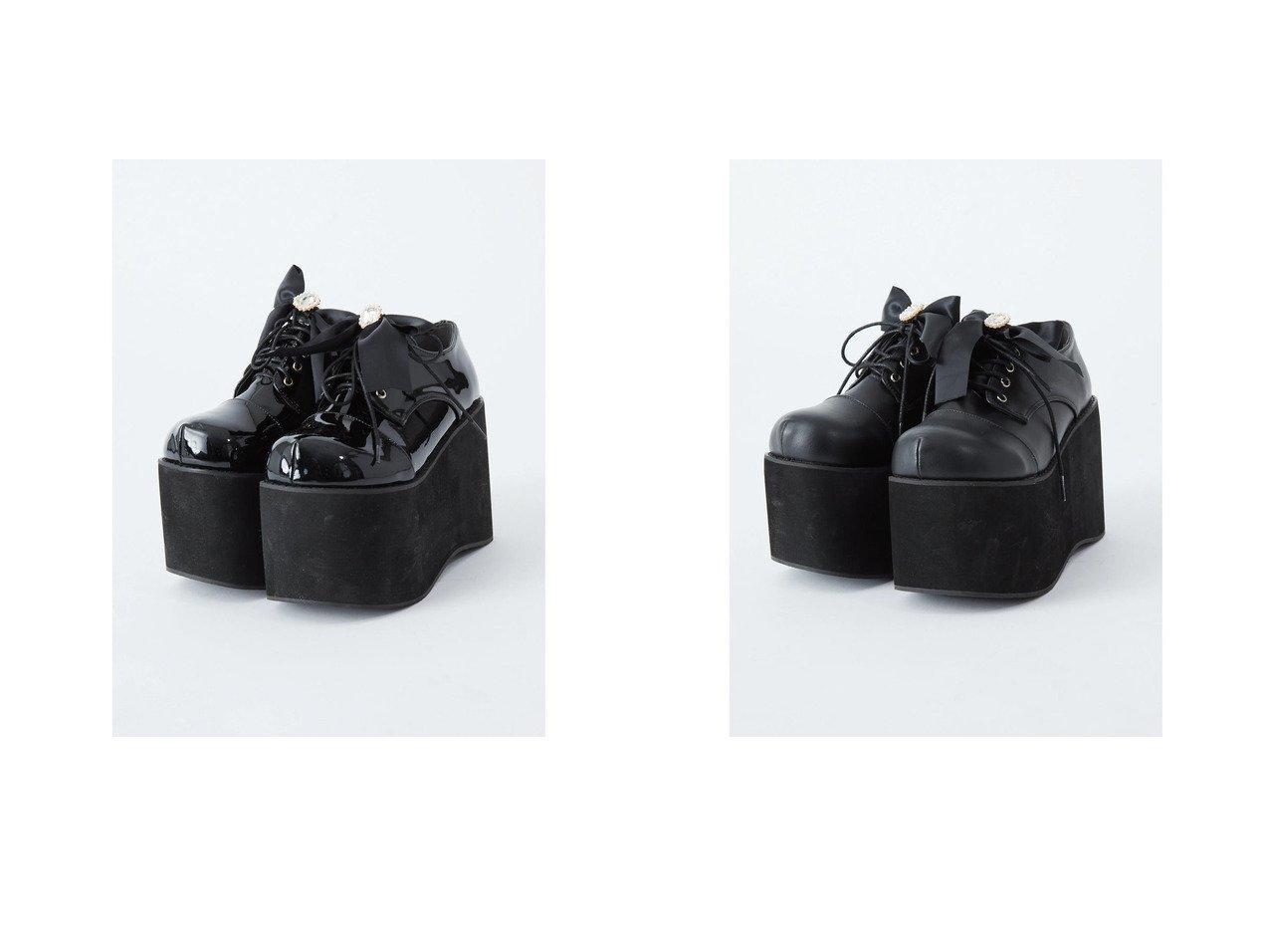 【Ank Rouge/アンクルージュ】の厚底リボンシューズ Ank Rougeのおすすめ!人気、トレンド・レディースファッションの通販 おすすめで人気の流行・トレンド、ファッションの通販商品 メンズファッション・キッズファッション・インテリア・家具・レディースファッション・服の通販 founy(ファニー) https://founy.com/ ファッション Fashion レディースファッション WOMEN 2021年 2021 2021 春夏 S/S SS Spring/Summer 2021 S/S 春夏 SS Spring/Summer シューズ ビジュー フォルム リボン 厚底 春 Spring |ID:crp329100000018501
