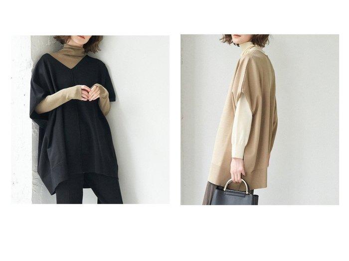 【ROPE' PICNIC/ロペピクニック】の【セットアップ対応】【2WAY】ポンチョニットプルオーバー ROPEのおすすめ!人気、トレンド・レディースファッションの通販  おすすめファッション通販アイテム レディースファッション・服の通販 founy(ファニー) ファッション Fashion レディースファッション WOMEN トップス Tops Tshirt ニット Knit Tops プルオーバー Pullover セットアップ Setup トップス Tops 春 Spring 秋 Autumn/Fall カットソー セットアップ セーター タートル タートルネック 半袖 冬 Winter |ID:crp329100000018531